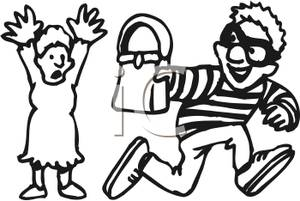 Snatch clipart clip art library stock A Thief Snatching a Womans Purse - Royalty Free Clipart Picture clip art library stock