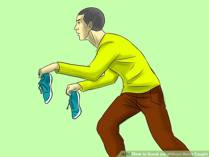 Sneaking out clipart picture black and white How to Sneak out Without Being Caught (with Pictures) - wikiHow picture black and white