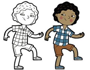 Sneaky Kids Clip Art clip art free download