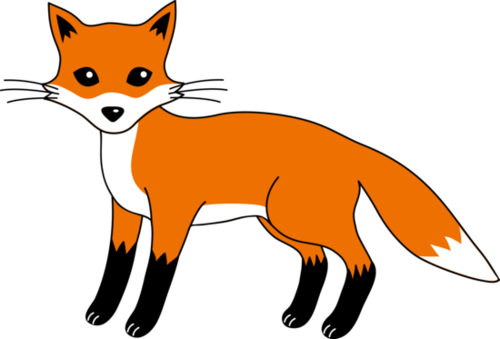 Sitting black and white baby fox clipart graphic library download Free sneaky fox clipart clipart and vector image - Clip Art ... graphic library download