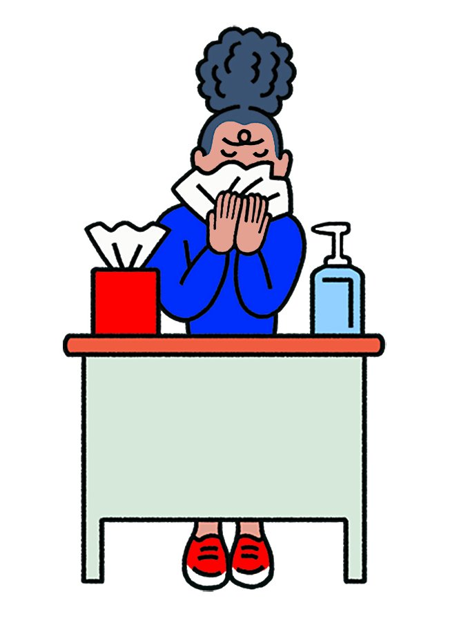 Sneeze office clipart jpg free stock Is It O.K. to Go to Work While Sick and Sneezing? - The New ... jpg free stock