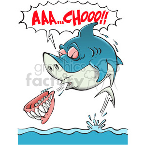 Sneezing animal clipart clip royalty free library shark sneezing his teeth out clipart. Royalty-free clipart # 388415 clip royalty free library
