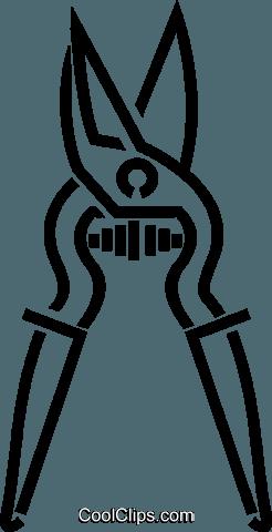 Snip clipart jpg black and white Tin snips Royalty Free Vector Clip Art illustration ... jpg black and white