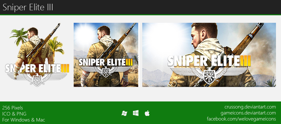 Sniper elite iii clipart svg freeuse library Sniper Elite III - Icon by Crussong on DeviantArt svg freeuse library