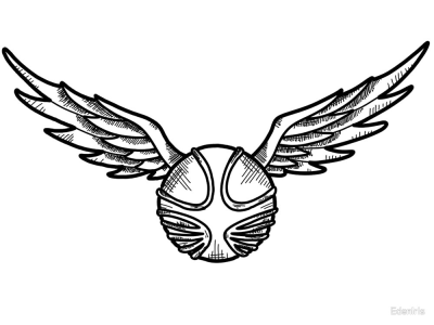 Snitch quidditch clipart black and white picture Snitch PNG - DLPNG.com picture