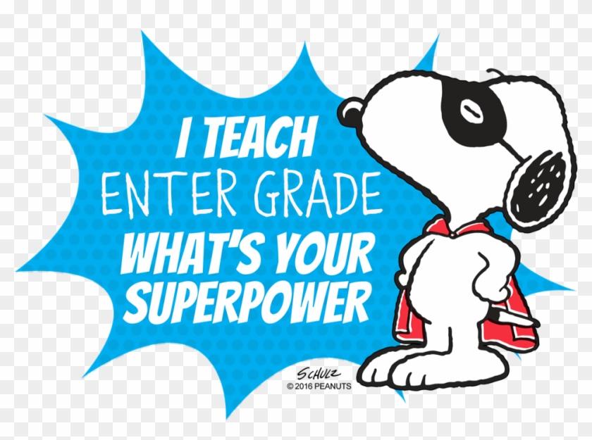 Snoopy and teacher clipart