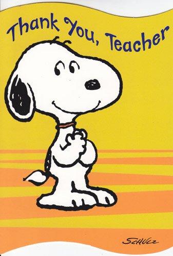 Snoopy and teacher clipart jpg black and white library Amazon.com: Graduation Card - Teacher \
