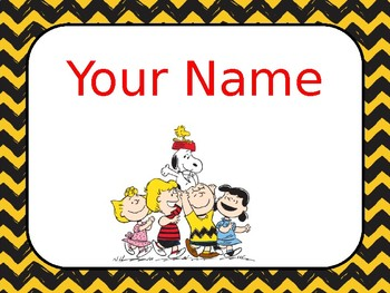 Snoopy and teacher clipart svg free library Snoopy Peanuts Teacher Name Editable Sign svg free library