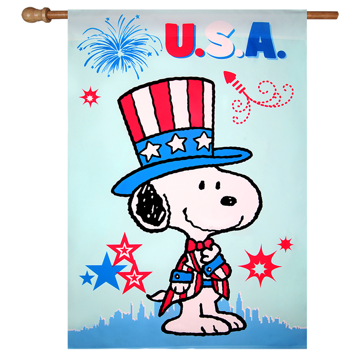 Snoopy back to school clipart banner freeuse Patriotic Peanuts USA House Flag banner freeuse
