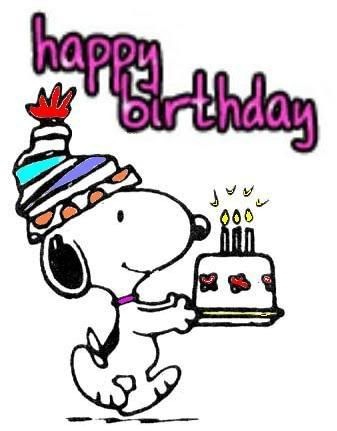 Snoopy birthday clipart black and white download Happy Birthday by laurie | ~ Charlie Brown ~ | Snoopy ... black and white download