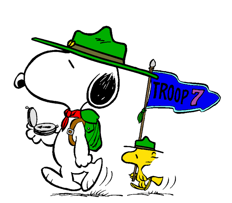 Snoopy boy scout clipart banner freeuse stock Snoopy and Woodstock Proud Beagle Scouts | Charlie Brown ... banner freeuse stock