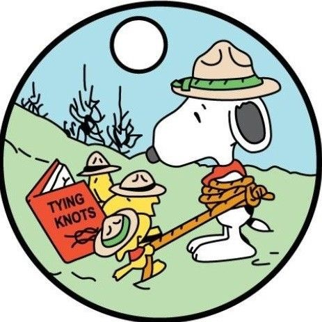 Snoopy boy scout clipart jpg free library Knotty problem. | eagle scout | Snoopy, Snoopy beagle ... jpg free library