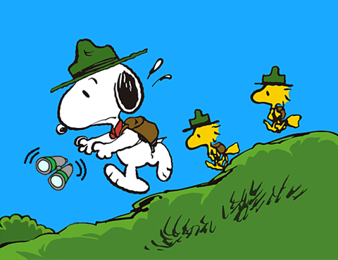 Snoopy boy scout clipart png library stock Snoopy Beagle Scout Losing his Binoculars | Peanuts-Snoopy ... png library stock