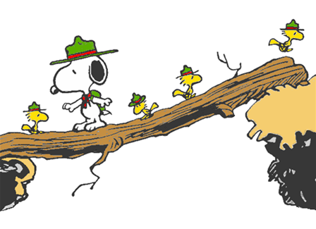 Snoopy boy scout clipart graphic library stock Beagle scouts crossing | Snoopy | Snoopy, Snoopy beagle ... graphic library stock