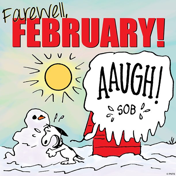 Snoopy clipart february jpg royalty free download Farewell February months snoopy march hello march march ... jpg royalty free download