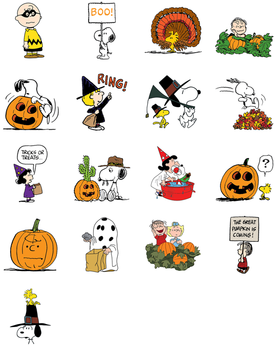 Snoopy clipart great pumpkin svg Snoopy's Harvest || Facebook Stickers svg