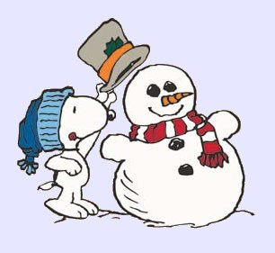 Snoopy winter clipart
