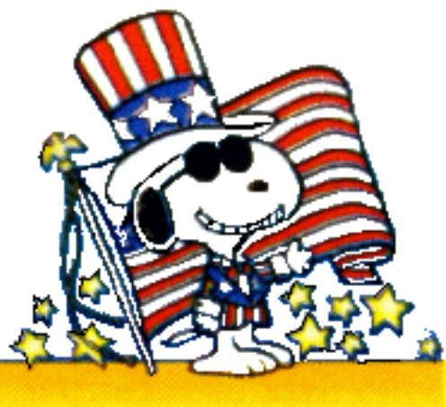 Snoopy fourth of july clipart picture Snoopy love this holiday.... | Snoopy\'s World | Snoopy ... picture