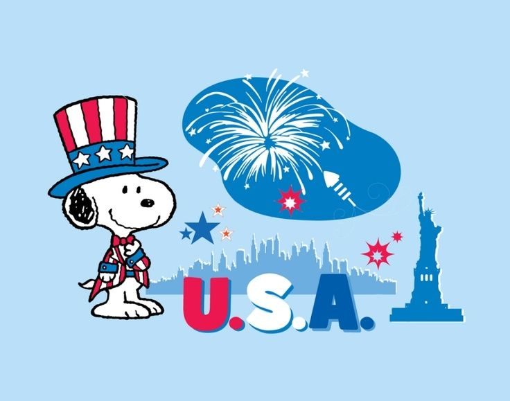 Snoopy fourth of july clipart banner transparent stock happy july 4th snoopy | Go Back > Gallery For > Snoopy 4th ... banner transparent stock