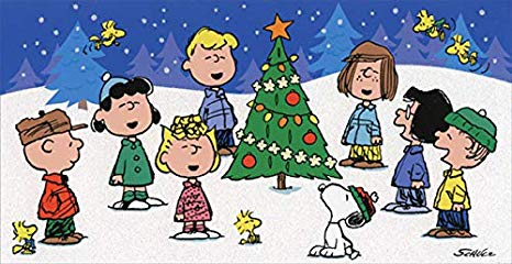 Snoopy kids singing clipart graphic free stock Amazon.com : Peanuts Singing Around Tree Hallmark Christmas ... graphic free stock