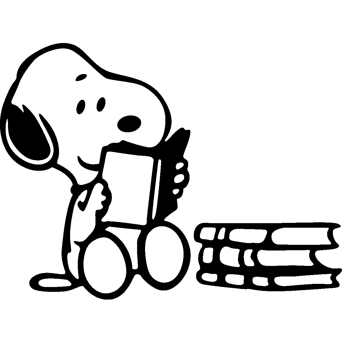 Snoopy reading clipart svg freeuse download Snoopy Reading <3 | Books Belong to Their Readers | Snoopy ... svg freeuse download