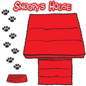 Snoopy the dog clipart graphic free library Snoopy's Doghouse Bulletin Board Set | Pinterest | Dog houses ... graphic free library