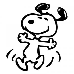 Snoopy the dog clipart clip free stock Snoopy Dancing Clipart - Clipart Kid clip free stock