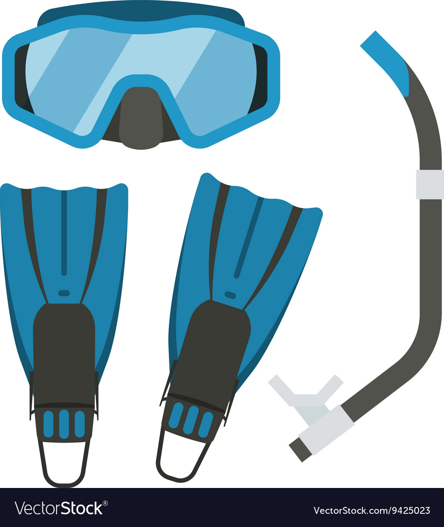 Snorkeling gear clipart svg royalty free download Snorkeling and Diving Gear svg royalty free download