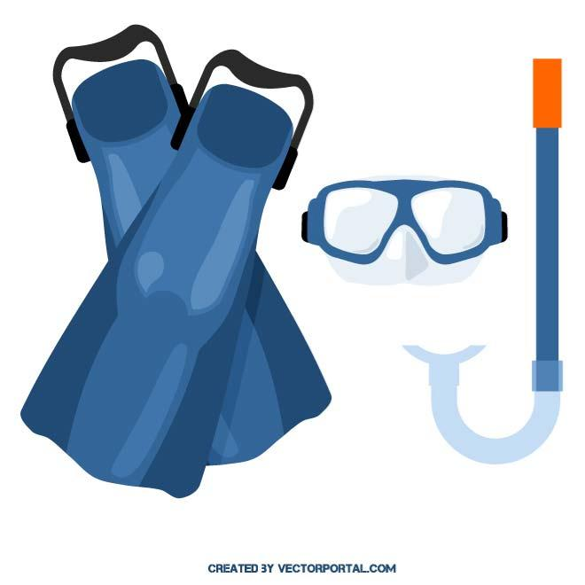 Snorkeling gear clipart clip art black and white library SNORKELING GEAR - Free vector image in AI and EPS format. clip art black and white library