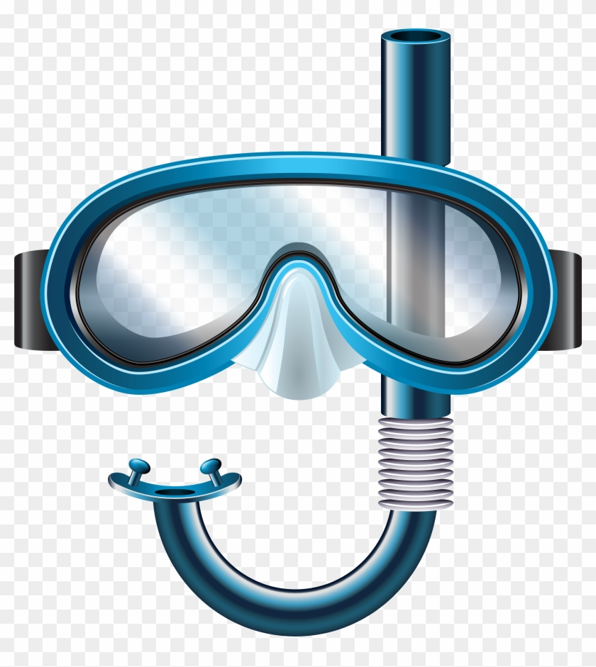 Snorkeling gear clipart vector free stock Snorkel Mask Png Clip Art, Transparent Png - 7608x8000 ... vector free stock