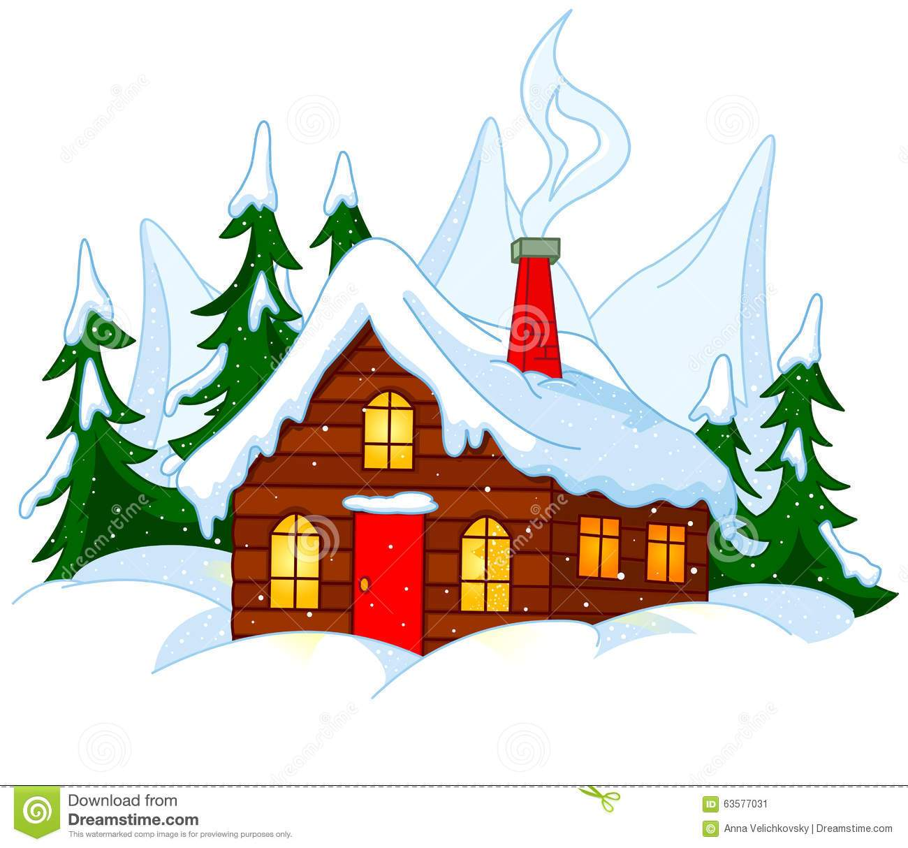 Snow cabin clipart picture free library House with snow clipart 5 » Clipart Portal picture free library