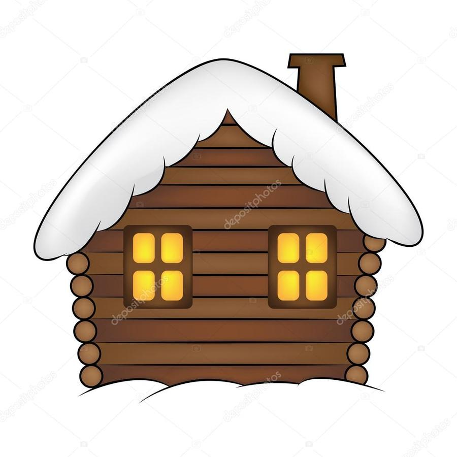 Snow cabin clipart picture royalty free Download cartoon snowy house clipart Log cabin Clip art picture royalty free