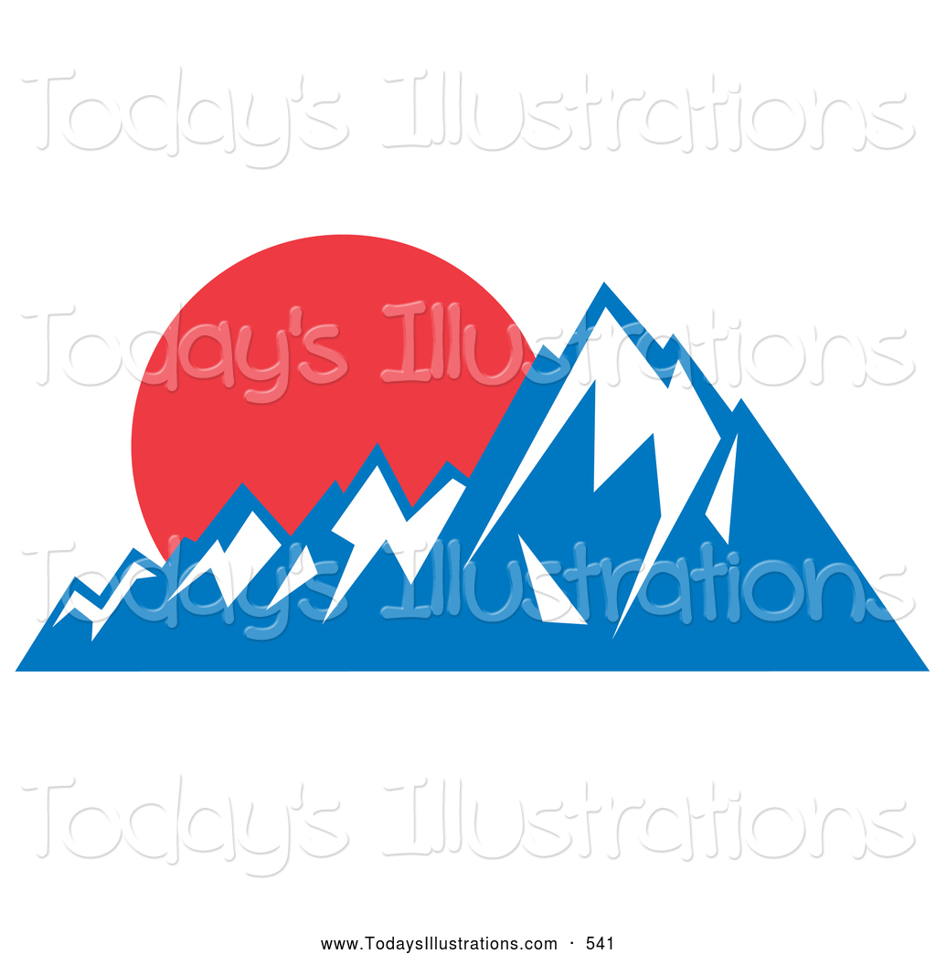 Snow capped peaks clipart
