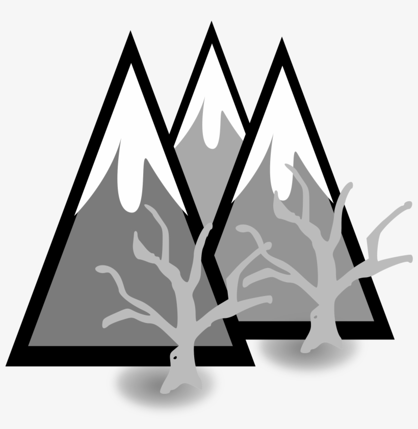 Snow capped peaks clipart png Clipart Library Library Clipart Mountains Black And - Snow ... png