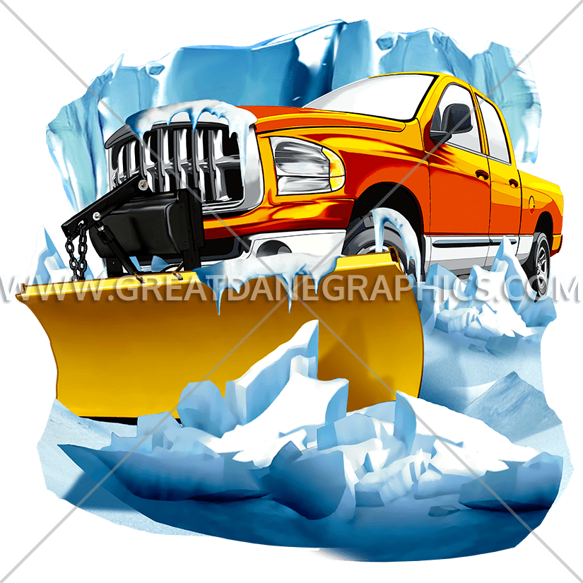 Snow car clipart image black and white Snow Plow | Production Ready Artwork for T-Shirt Printing image black and white