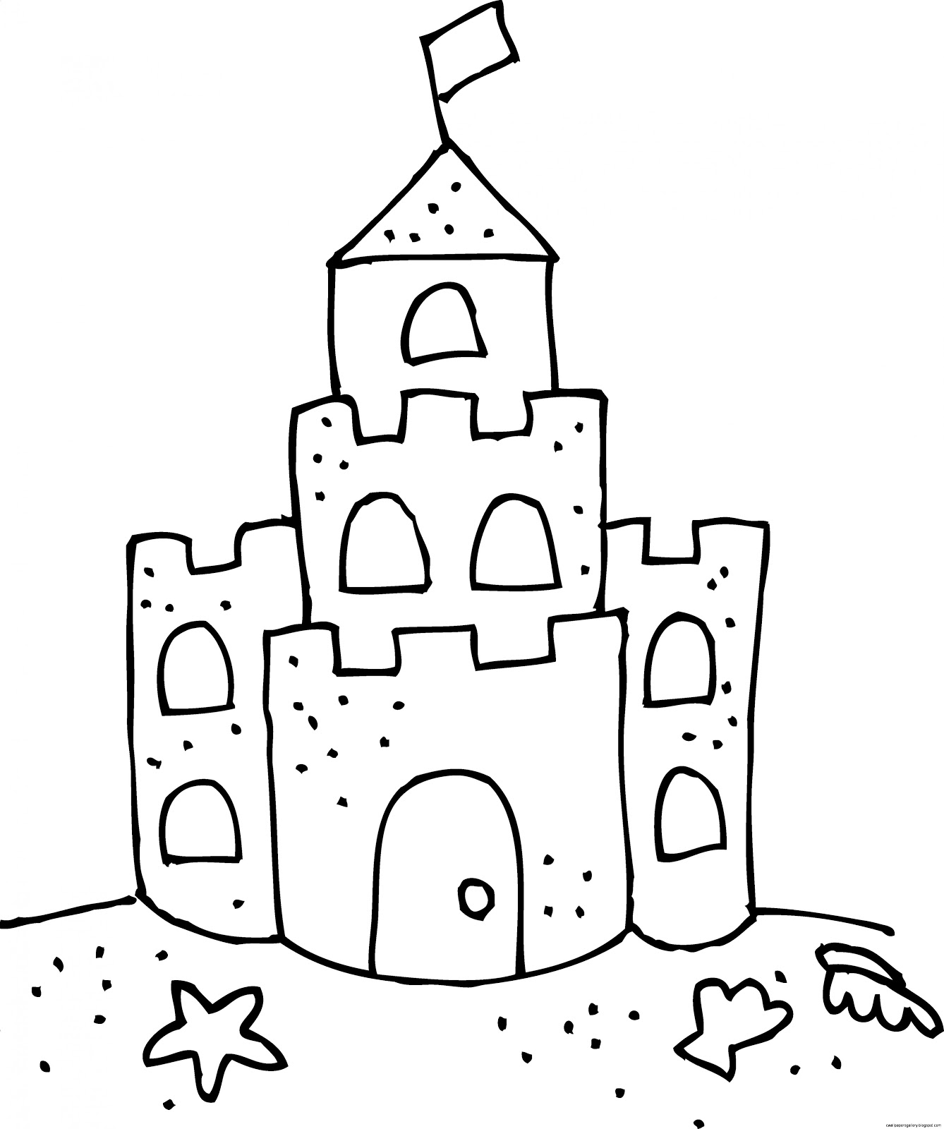 Snow castle clipart black and white sketch vector library download Black And White Castle Clipart vector library download