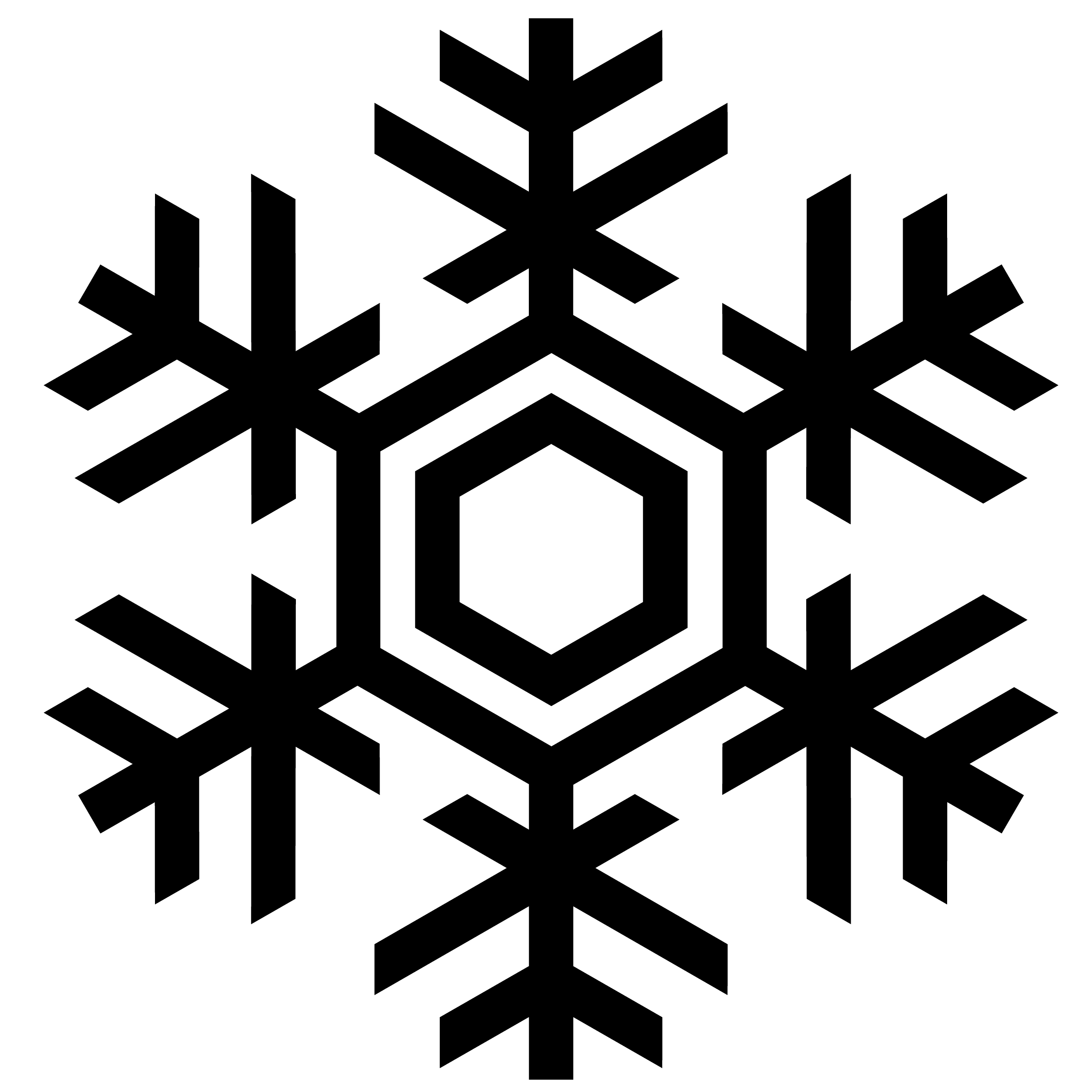 Snow clipart for photoshop clipart freeuse 52 Snowflakes Vectors, Silhouette and Photoshop Brushes for ... clipart freeuse
