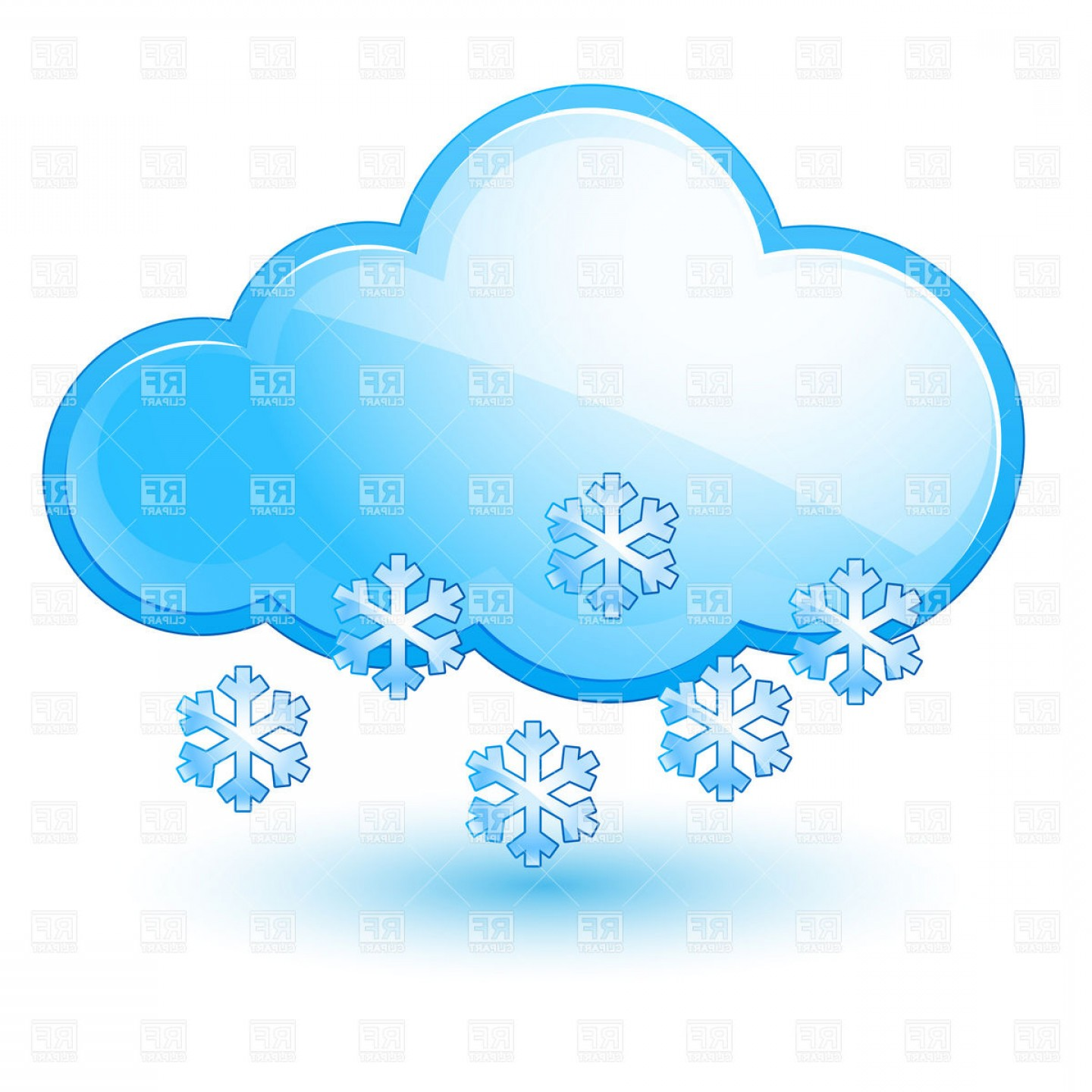 Cloud With Snowflake Snow Weather Icon Vector Clipart ... picture transparent download