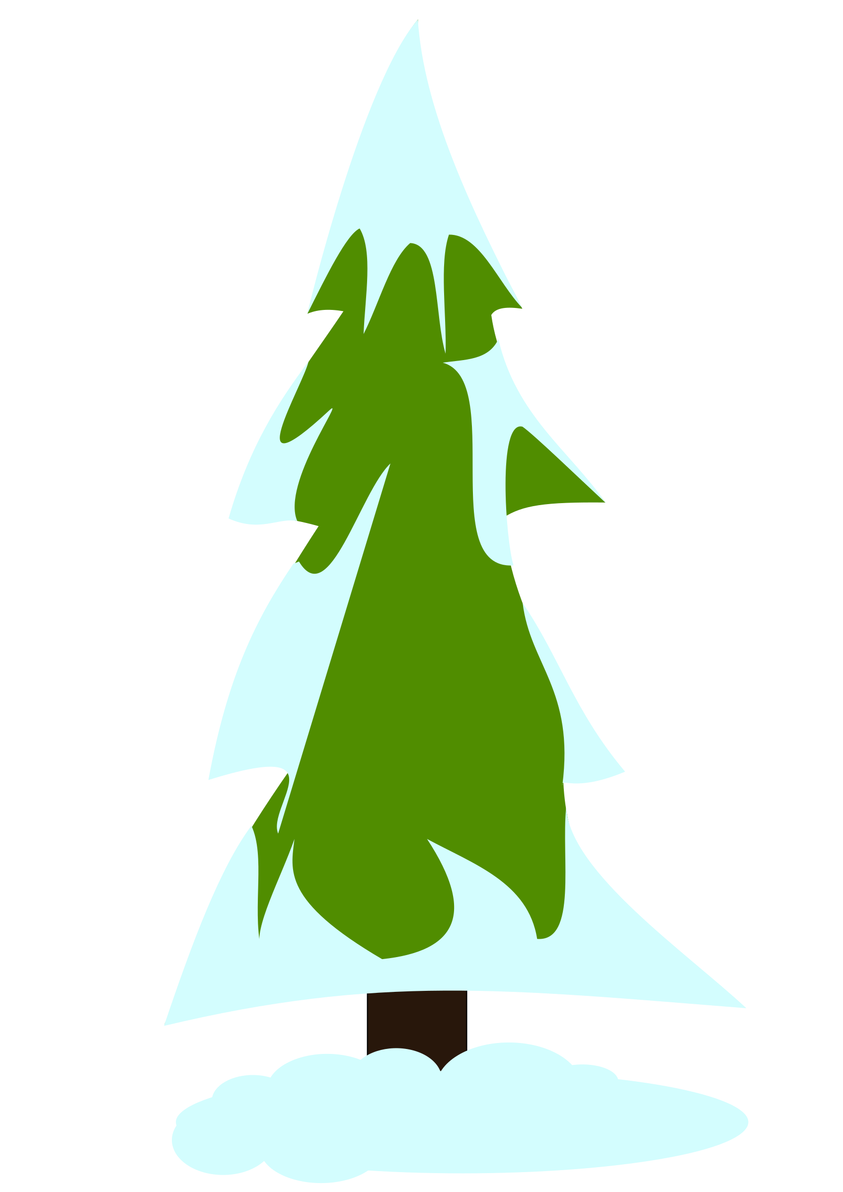 Snow tree clipart jpg royalty free library Clipart - Snowy pine tree jpg royalty free library