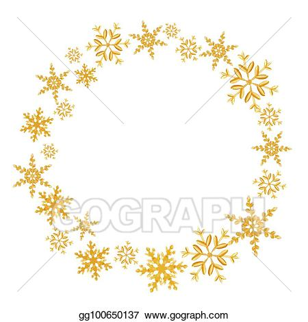 Snow explosion clipart svg freeuse library EPS Illustration - Wreath of christmas snowflakes splash of ... svg freeuse library