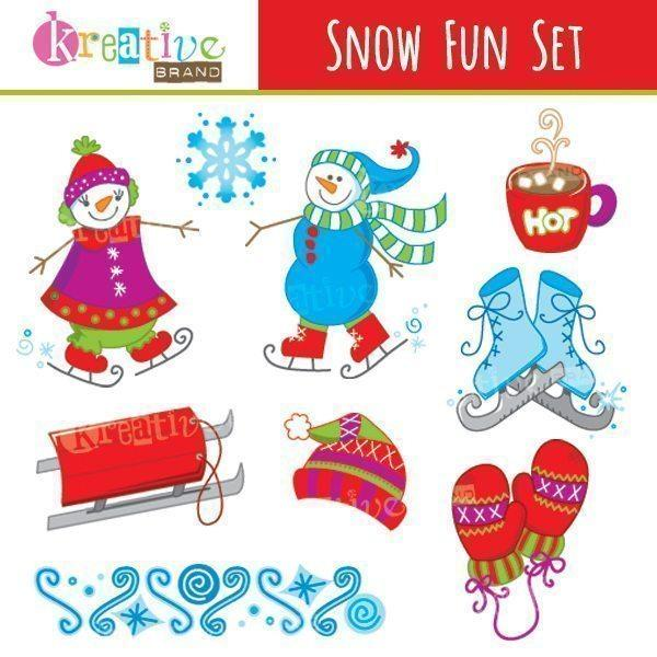 Snow fun clipart image free download Snow Fun Clipart image free download