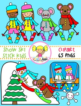 Snow Ski Stick Kids Clipart png free stock