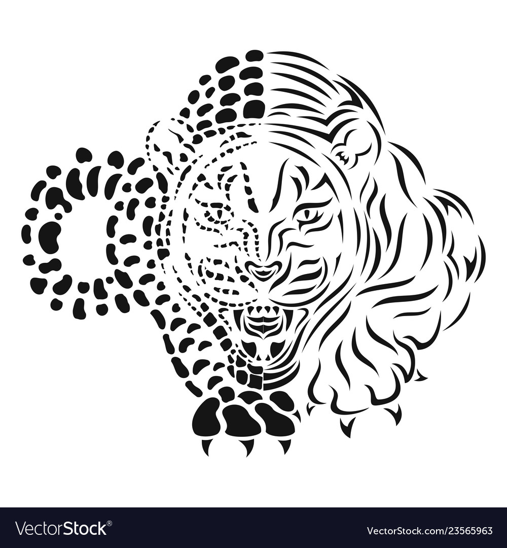 Snow leopard claw clipart clipart download Snow leopard isolated black silhouette clipart download