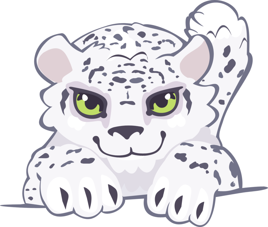 Snow leopard cubs clipart graphic library library Leopard clipart snow leopard, Leopard snow leopard ... graphic library library