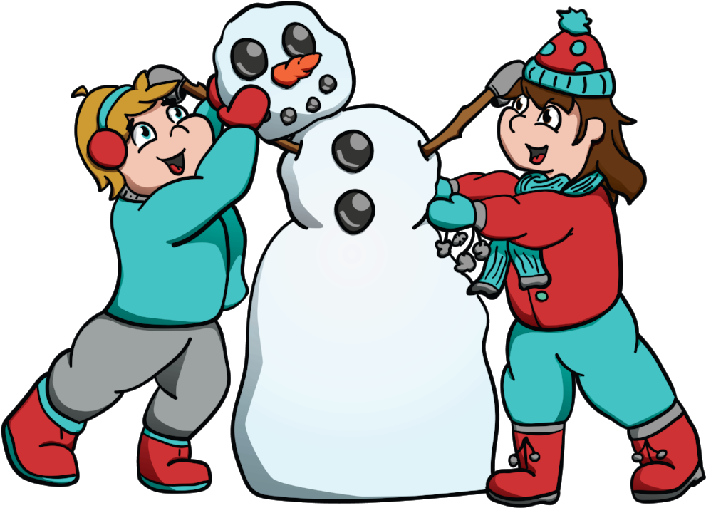 Snow man clipart kids graphic free stock Kids Building Snowman Hi Rez - Building A Snowman Clipart ... graphic free stock