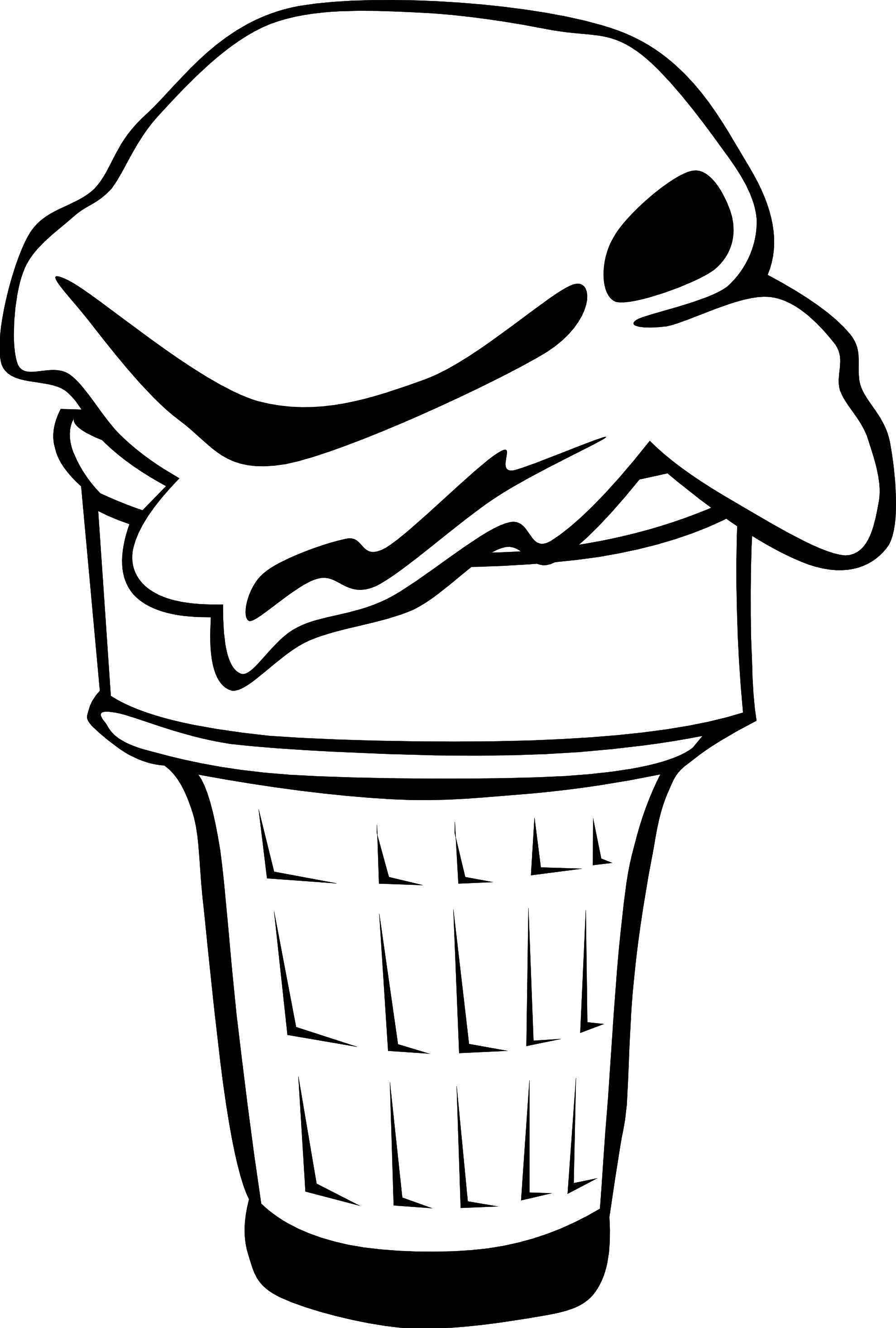 Sugar cone clipart black and white png clip Black And White Clipart Ice Cream | Free download best Black ... clip