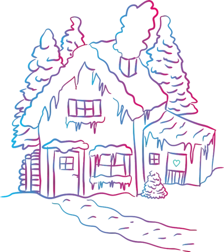 Melting snow on a house | Public domain vectors banner royalty free library