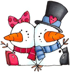 Snow people clipart png His & her snow people | Snowman | Snowman images, Christmas ... png