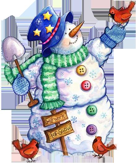 Snow people clipart stock snowmen.quenalbertini: Snowman with a bird | snow people ... stock