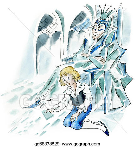 Snow queen clipart clipart download Clipart - Snow queen and little boy. Stock Illustration ... clipart download